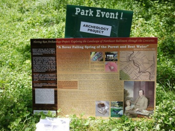 UPAG members visit ongoing archaeological projects like Herring Run Park in Baltimore