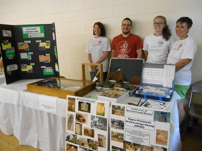 Volunteers at the UPAG Table for Hands on History at the Howard County Fair