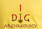 I dig archaeology art